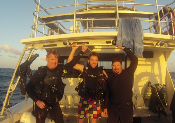 My dive buddies Guy H. and James G.